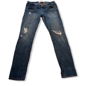 Hollister distressed skinny jeans size 27